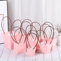 Gift Wrap 10Pcs set PVC Box Jewelry Packaging Portable Flower Basket Florist Handy Bags Rectangle Paper Boxes Wrapping Supplie