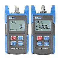 FTTH SET Optical Power Meter TL510 -70 + 10DBM Optische Lichtquelle TL512 FTTH Multimeter Fasergeräte Werkzeuge
