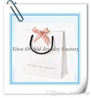 Wholesale 10 Pcs Exquisite High-Quality Paper Gift Bag 16*16*6cm Fits Pandora Jewelry Bracelet Necklace Box Packaging Bag Shopping Bag