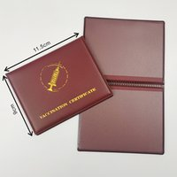 CDC PU Leather Vaccination Card Cover Certificate Files for 4*3inch Vaccinated Cards Case Holder Record-card Protector Protective GWD7645