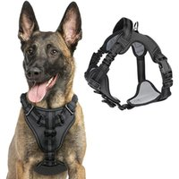 Dog Collars & Leashes Harness No Pull Breathable Adjustable Walking Soft Padded Pet Vest Reflective For Large Medium Dogs
