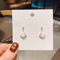 Dangle & Chandelier Fan Shape Earrings For Women Spring Summer Zirconia Opal Stone Luxury Temperament Fashion Jewelry S925 Pins Top Quality