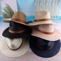 Erkekler Geniş Ağız Hasır Şapka Açık Moda Kadın Dokuma Seyahat Plaj Güneş Şapka Nedensel Fedora Panama Şapkalar TTA608 17 X2