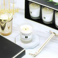 Aromeasy 자연스러운 왁스 향기로운 선물 가방 에센셜 오일 4 냄새 아로마 테라피 촛불 라벤더 샌달 우드