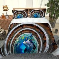 Biancheria da letto dell'oceano blu personalizzato Set da copripiumino Set singola doppia regina King Biancheria da letto con trapunta a pilowcase Covers Set di biancheria da letto 3D