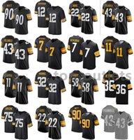 2021 Steelers American Football Jerseys Ben 7 Roethlisberger Jersey Chase 11 Claypool Franco 32 Harris Jack 58 Lambert Jerome 36 Bettis cosida