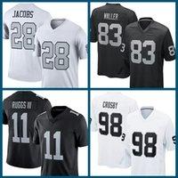 28 Josh Jacobs American Football Jersey 83 Darren Waller 11 Henry Ruggs III 98 Maxx Crosby 94 Carl Nassib 4 Derek Carr 13 Hunter Renfrow 99
