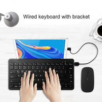 لوحات المفاتيح لوحة مفاتيح WRIED لجهاز Huawei MediaPad M6 10.8 8.4 Turbo M5 Inch Pro اللوحي الكمبيوتر الترا سليم مصغرة حامل سلكي