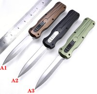 automatic KNIFE CNC T60161 handle D2 steel blade hight quality UTX70 UTX85 BM3300 A07 UT121 a21 Camping tactical pocket folding Quick opening cutting tool