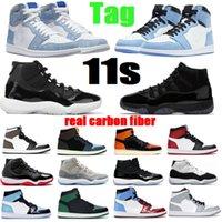 11 Мужские баскетбольные туфли 11s Юбилей Concord 45 Concep Smed Gym Red Space Jam Real Carbone Fibre 4S Black Cat 1 Университет Синий Гипер королевская Тень 5s Орео