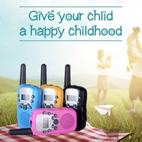 T388 UHF Two Way Radio Portable Handheld Children's Walkie Talkie with Led torch Mini Toy Gifts for Kids Boy Girls