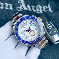 2021 Montre de Luxe Relojes para hombre 116681 44mm Dos tonos Gold Steel de acero inoxidable Reloj Mecánico Mecánico Big Dial Cronógrafo Impermeable