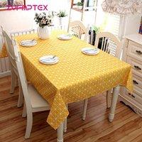 ZyfmptTex Linen Table Tissu Simple Lignes Simples Table de style moderne Couverture Nappe Nappe Nappe Roman à la poussière Manteles Para Mesa