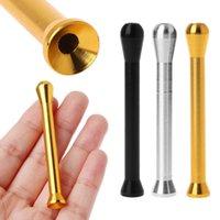Aleación de aluminio Sniff Sniffer Sniffer Snorter Nasal Fumar Tubo Snifer Nasal Fumar Accesorios C0310