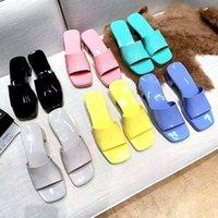 2021 Kadın Sandalet Yüksek Topuklu Kauçuk Slayt Sandal Platformu Terlik Tıknaz 2.4 Topuk Yükseklik Ayakkabı Yaz Bayan Kabartmalı Çevirme Kutusu Ile