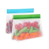 Saco de preservação de comida de PEVA reutilizável vedação hermética alimentos frescos armazenamento recipientes versáteis saco de cozimento silicone comida fresco sacos
