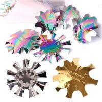Diseño de uñas Placas de estampado Modelado de manicura francés Forma de acero inoxidable Arte de las uñas para el barniz de cristal para estampado