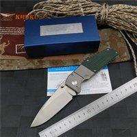 Banco BM7505 feita de titânio punho faca M390 lâmina dupla-ação caça bolso sobrevivência facas dobrável facas EDC ferramentas