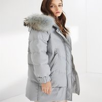 Fashion of winter outfit new type women's down jacket is wide and casual loose wool gets medium long paragraph to add thick coat be sent overcome