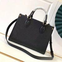 5a qualidade superior ontheego pm bolsa de couro moda crossbody bolsa de compras mulheres 25cm com caixa