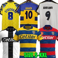 97 98 99 2000 21 22 Buffon Parma Retro Soccer Jerseys Hem 93 95 00 01 02 03 Fuser Baggio Crespo Ortega Cannavaro Fotbollskjorta Thuram Futbol Camisa Special Målvakt