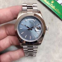 U1 Factory St9 Steel News Men Watches Ice Blue Arabic Dial DAY DATE Daydate Automatic Mechanics 41MM Sapphire Glass Stainless 238239 118239 mens watch
