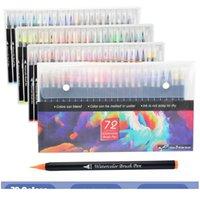 Pennarello dell'acquerello Markyering Manga Copic Markers 20/24/48/72 Marcatori di arte colorata Sketchbooks per disegnare cancelleria JLLWPX