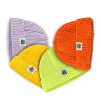 가을과 겨울 양모 모자 어린이 순수한 돔 만화 레이블 커버 따뜻한 니트 모자 pzj3722