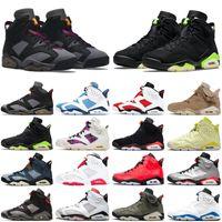 6 6s uomo scarpe da basket jumpman fumo grigio DMP hare outdoor mens formatori sneakers sportive taglia 7-13