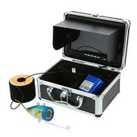 LIXADA 7 Farbe HD 1000TVL 15/30M Fischerkamera Digital Unterwasser Fischfinder 120 Grad 12 LED Antisunshine Blau / Orange Kamera