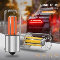 Emergency Lights 6-Sided COB 1156 1157 BA15S BAY15D P21 5W LED Bulbs Filament Brake Reverse Turn Signal Lamp Tail White Yellow Red