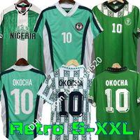 Barato Nigéria Retro 1994 Home Away Jerseys de Futebol Kanu Okocha Finidi Nwogu Futbol Jogo Vintage Futebol Camisa CLASSIC 1996 1998