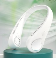 Elektrikli Hayranları 1800 mAh Lityum Pil Hands-Free Boyun Band Hung USB Şarj Edilebilir Ultra Sessiz Fan Mini Hava Soğutucu Yaz Taşınabilir