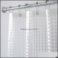 Shower Aessories Bath Home & Gardenshower Curtains Aimjerry Heavy Duty 3D Eva Clear Curtain Liner Set For Bathroom Waterproof Drop Delivery