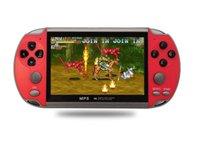 X7 المحمولة لعبة وحدة التحكم مشغل 4.3 بوصة شاشة LCD 8 جيجابايت مزدوجة الروك 6000 الكلاسيكية لعبة الرجعية مصغرة جيب mp5 لعبة فيديو