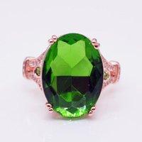 Wedding Rings MENGYI Fashion Luxury Big Oval Zircon Engagement For Women Elegant Rose Gold Wedding Party 9 2 5 Jewelry