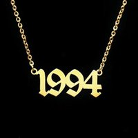 Pendant Necklaces Handmade Number Necklace Custom Birth Year Special 1980-2021 Have Enough Stocks