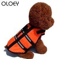 كلب الملابس الحيوانات الأليفة سترة الحياة سلامة الملابس سترة طوق تسخير التوقف جرو السباحة preserver الصيف ملابس السباحة المنتج