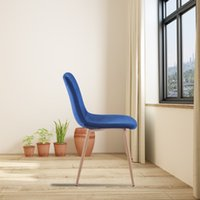 Обеденный стул 4 шт. (Синий), современный стиль, новые технологии, подходит для ресторанов, кафе, таверны, офисов, гостиных, приемных номеров. Простой