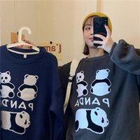 Kadın Hoodies Tişörtü Saf Pamuklu Suçlanan Ve Yün Polar Bebek Panda Güçlendirmek Kadın Yün Kazak Ekle