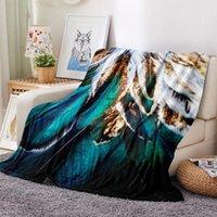 Couvertures d'impression 3D paon de paon plumes flanelle couverture couleur lit de lit canapé lits couvre-lit enfant adulte enfants nap loisirs housse de loisirs