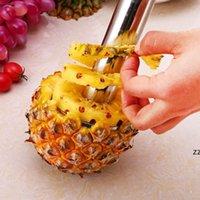 Edelstahl Ananas Peeler Cutter Slicer Corer Peel Core Werkzeuge Obst Gemüsemesser Gadget Küche Spiralizer HWF10806