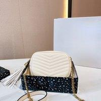 2021 SS Luxurys дизайнеры женские сумки сумки сумки сумки на плечо леди мода сумка V-образной формы стеганые кошельки классические дамы крест цепочки для тела