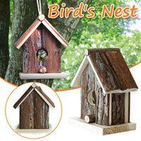 Bird in legno appeso caverna cave gabbia parrot nido amaca hammock gabbia calda inverno uccelli letto giocattoli giardino decorazione interna giardino