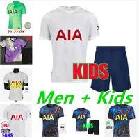 Qualidade tailandesa 21 21 2 22 Tottenham Kane Lucas Filho Home Jerseys 2021 2022 4th Lamela Dele Hojbjerg Bergwijn Lo Celso Bale Away Terceiro Futebol Camisas Men + Kids Kit
