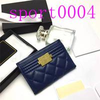 2021 Portafogli per cartoncino in pelle di cuoio genuina di lusso di alta qualità con ID Caso da donna con portafoglio con portafoglio