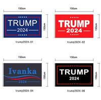 90 * 150 cm Trump 2024 Bayrak Baskı Amerika Afiş Bahçe Donald Bayraklar Polyester Dekor Banner DHL Nakliye