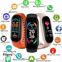 Designer Luxury Brand Watches M6 Smart Men Women Fitness Sports Band FitPro Versión Bluetooth Music Heart Rate Take Fotografías
