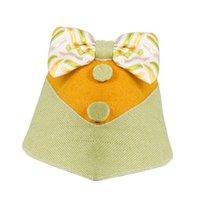 Dog Collar Leashes Bowtie Collar Bandana Triangle Pet Bib med söt slips huvud halsduk för små medelstora stora hundar valpar katter