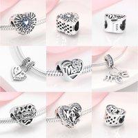 Hot 925 Sterling Silber Mutter und Tochter Charms Mama für Schmuckherstellung Anhänger Fit Original Charme Designer Armbänder